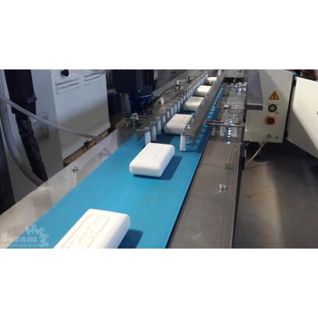 Транспортер-укладчик мыла на упаковочный станок типа «Флоу-Пак»