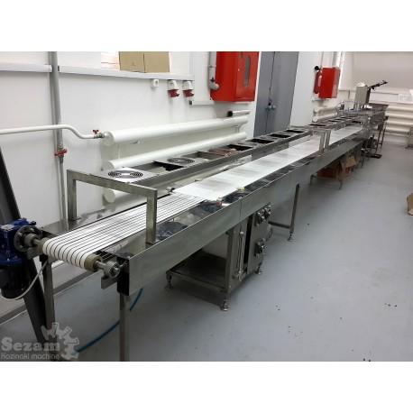 Формовочно резательно охладительная машина 150 кг/ч с разделительным транспортером и весами в потоке