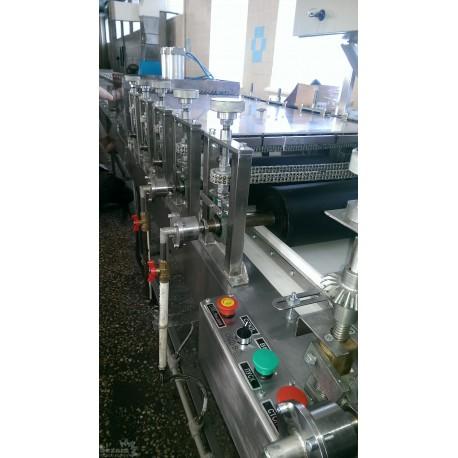 Козиначная формовочно резательно охладительная машина 250 кг/ч с жидкостным охлаждением формующих валов